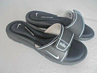 Black Cushion Slides Sandals Size