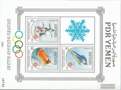 south yemen democrat. republic. block19 mint never hinged mnh 1983 Olympics Wi