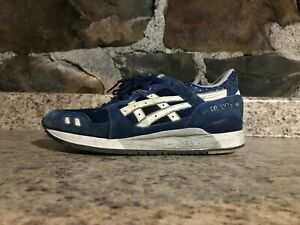 promo code e3e5c 78710 Details about asics gel lyte iii 3 Glow in the Dark Estate Blue SZ 10  PRE-OWNED USED NO BOX #B