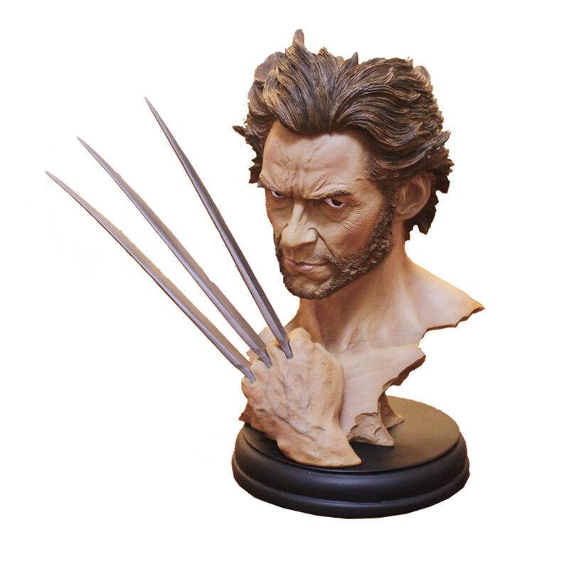 12 Marvel Hero Xuomo WOLVERINE LOGAN autobusto Statua in resina modellololo Hugh Jackuomo cifra