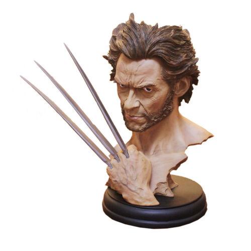 12Marvel Hero X-MAN Wolverine Logan Bust Model Resin Statue Hugh Jackman Figure