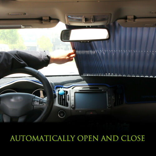 Car Front Windshield Visor Retractable Curtain Sun Shade UV Protection