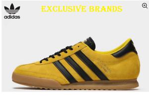 aislamiento Respetuoso Hamburguesa  Adidas Originals Beckenbauer Yellow Black TRAINERS Men's ALL SIZES Xmas  Gift | eBay