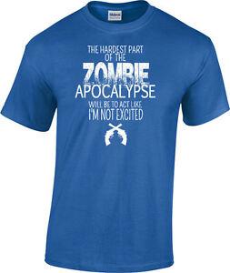 ebbb87968a8 ZOMBIE APOCALYPSE T-shirt walking dead funny gift geek lover Unisex ...