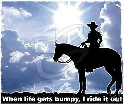 When Life Gets Bumpy L or XL M Horse Tshirt S