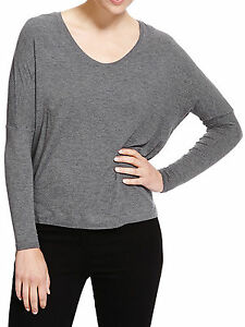 Donna M Relaxed Top Collezione Luxury Grey V scollo s a Top by Twqx8P411