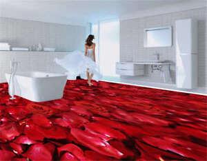 outlet deals Insidious Red Blocks 3D Floor Mural Photo Flooring ...
