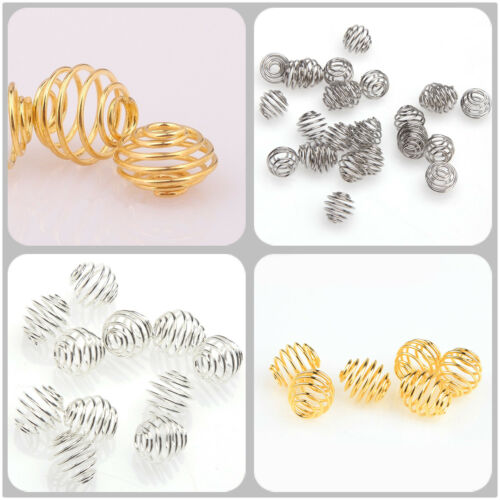 Free Shipping  50pcs Silver//Golden Plated Rotation Pattern Ball Spacer Beads