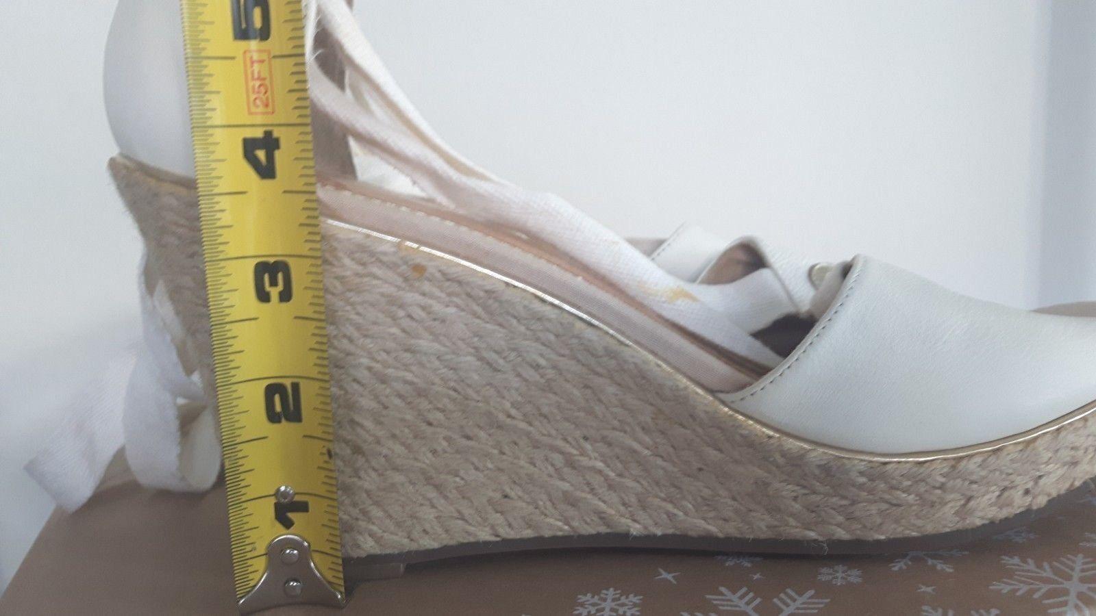 Sperry Top Gladiador Sider blancoo 11 Cuña Lona Correa Atar Gladiador Top Cuerda de Cáñamo Puntera Abierta 08c347