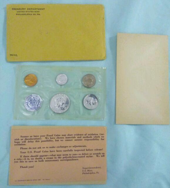 1961 Proof Set With COA ~ Flat Pack Original Envelope ~ US Silver Mint Coin Set