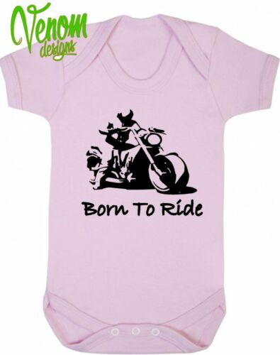 Born to Ride Baby vest grow shower gift Motorbike age new funny BIKER