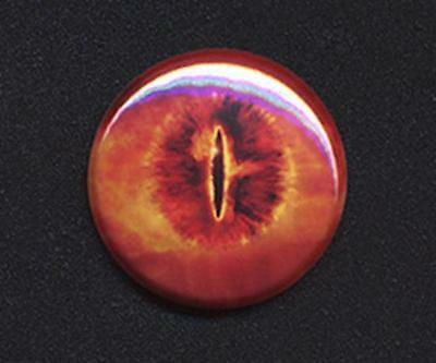 EYE OF SAURON badge button pin - LOTR CLASSIC! -  25mm and 56mm size!