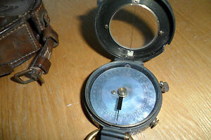 Antique-Short-and-Mason-WW1-Verners-pattern-mark-8-Compass-no-4593-C1912