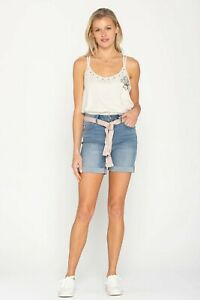 Miss-Me-Jeans-Shorts-Size-26-H2267D-Blue