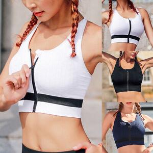Damen-Nahtlos-Push-Up-Sport-BH-Bra-Bustier-Fitness-Yoga-drahtlose-Gepolsterte