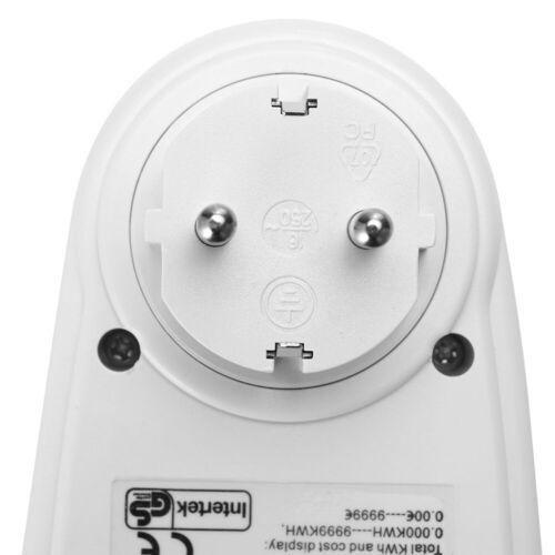 Energiekostenmessgerät Stromverbrauchszähler 3680W Strommesser Steckdose 16A