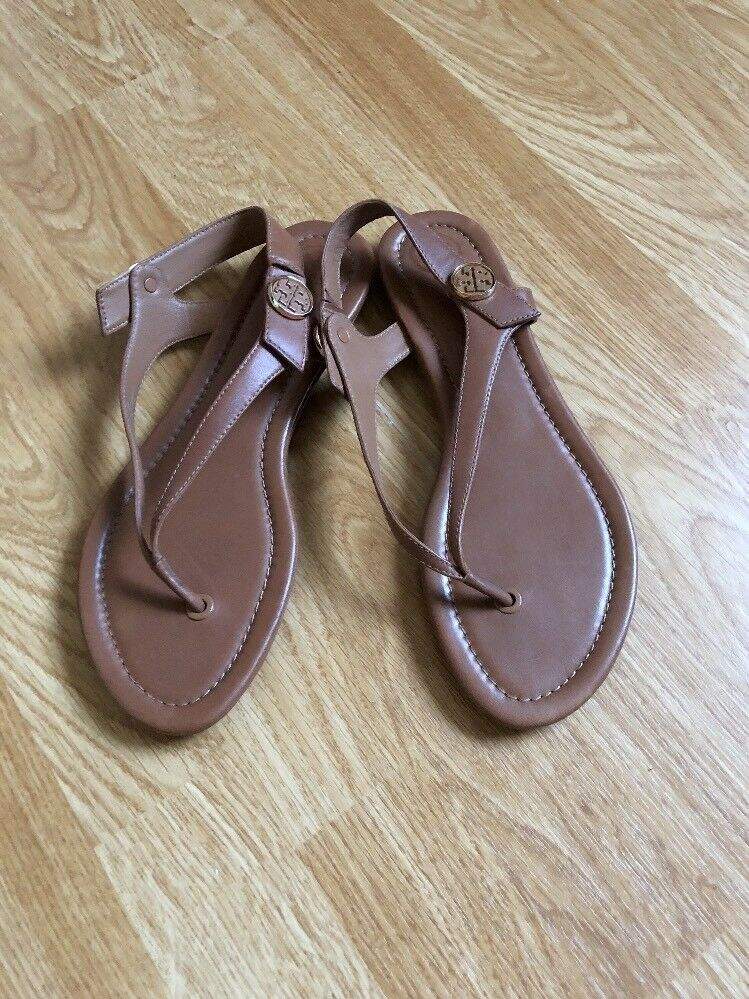 Tory Burch Minnie Travel Thong Sandals Size 9.M color Vintage Vachetta