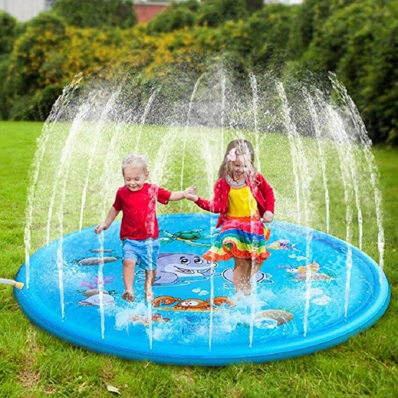 Babies Wensty Splash Play Mat 68/'/' Boys and Girls Splash Pad 68 Sprinkler for Kids Outdoor Water Fun Toys Summer Swimming Pool Toys for Toddlers