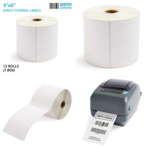 - 2330 Labels//Roll Smith Corona 3 Core 4x2.5 Direct Thermal Labels 4 Rolls
