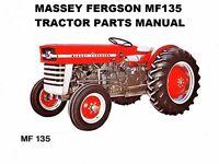 Massey Ferguson Mf135 Parts Manual 160pg W/ Mf 135 Tractor Part List Diagrams