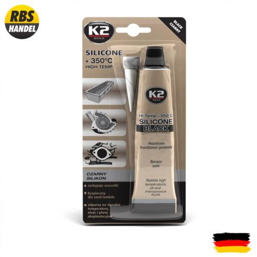 Silicone haute température noir tube 85gr b210k2