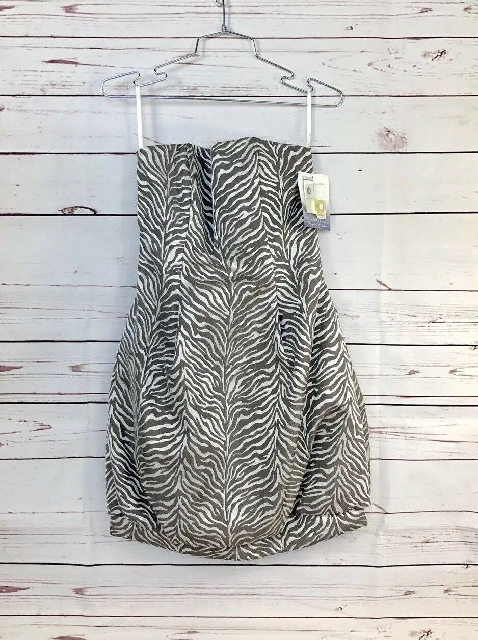 Jessica McClintock damen Strapless Dress Tiger Stripe Größe 6
