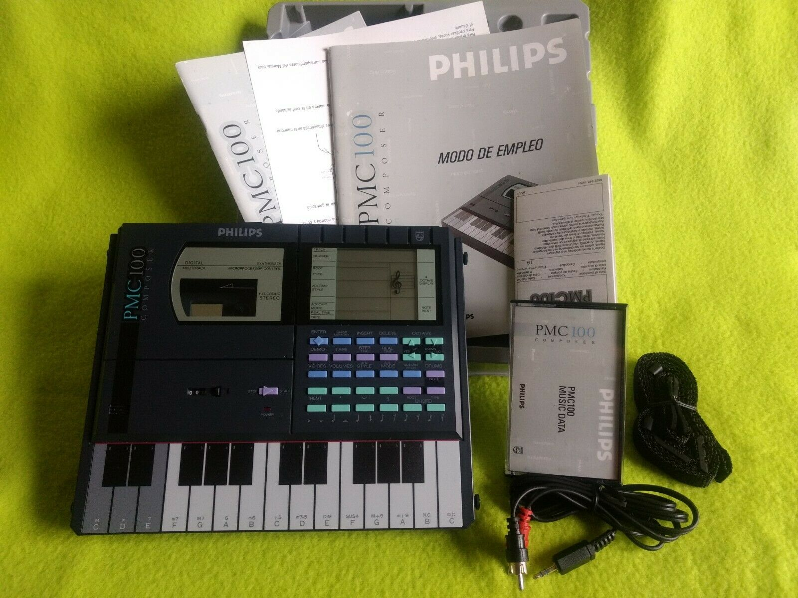 80's PHILIPS PMC 100 FM SYNTH WORKSTATION Composer vintage COMPLETO CON CAJA