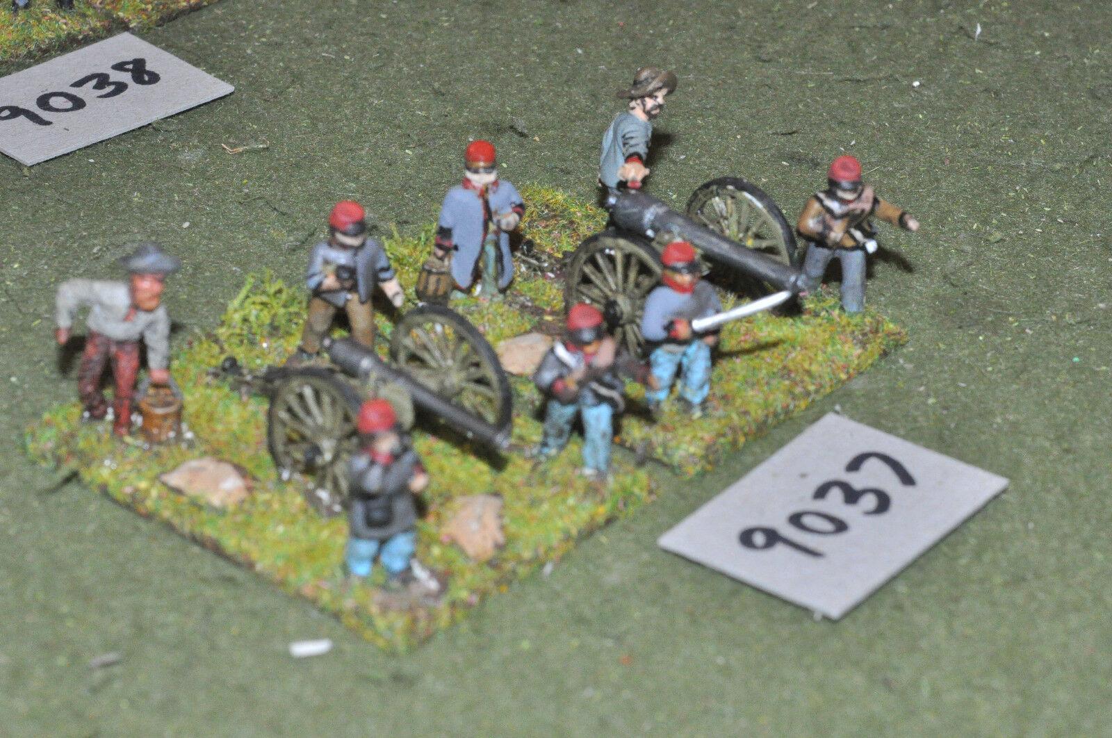 25mm ACW   confederate - civil war 2 guns crews artillery metal - art (9037)