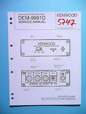 Service Manual-anleitung Für Kenwood Dem-9991d original Gutes Renommee Auf Der Ganzen Welt Anleitungen & Schaltbilder