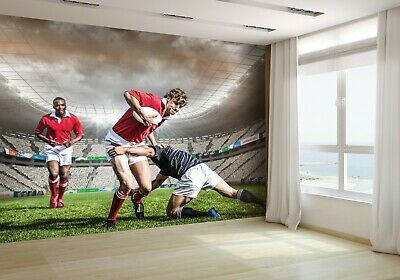 Sports Player With Rugby Ball Wallpaper Mural Photo 45503552 budget paper