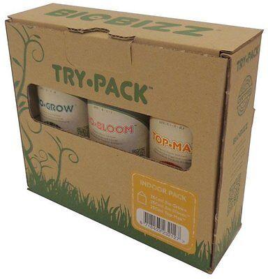 Biobizz Try Pack Indoor - bloom grow top max organic nutrients fertilizers