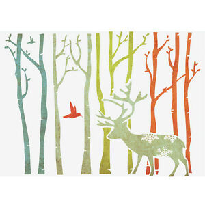 wall stencils for diy decor rooms kids template deer in forest 16 53