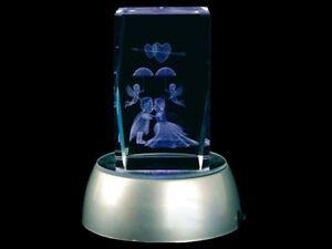 3d laser kristall quader glas block leucht deko diamant - 3d kristall foto ...