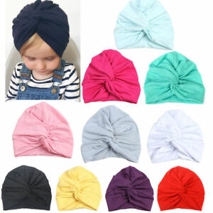Image is loading Kids-Indian-Baby-Girl-boy-Turban-Cotton-Beanie- 79cab264124