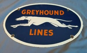 GREYHOUND-PORCELAIN-GAS-BUS-LINES-VINTAGE-STYLE-TRANSPORTATION-AUTO-DOG-SIGN