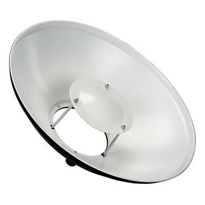 "New Fotodiox Beauty Dish 16"" w/ Profoto Insert, White Interior, 40cm Diameter"