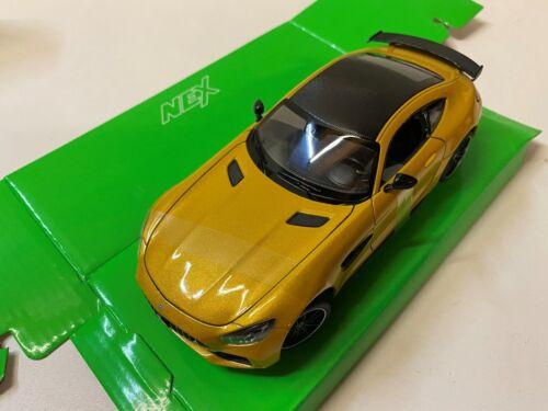 Mercedes Benz AMG GTR gelb 1//24 1:24 Modell Modellauto Welly