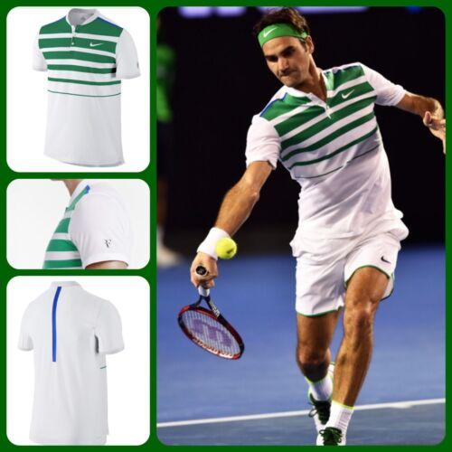 Nike Federer Polo Ouverte 100 Pour Homme Rf Crew XL 728951 Australien Taille Tennis 2016 1wnqqaWdI