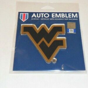 WVU-WEST-VIRGINIA-MOUNTAINEERS-AUTO-BADGE-CAR-DECAL-EMBLEM-3X4-FREE-SHIPPING