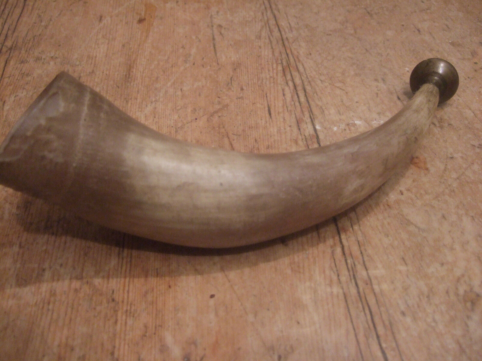 ANTIQUE 19th CENTURY ALPINE HUNTING HUNTING ALPINE HORN 6a0db9