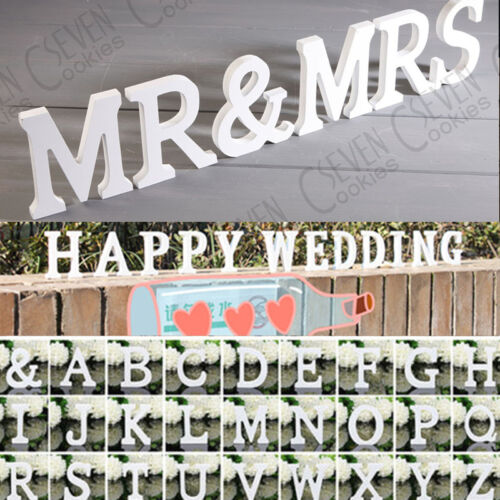 Wooden Letter Word Free Standing Wedding Party DIY Decoration Home Wood Alphabet