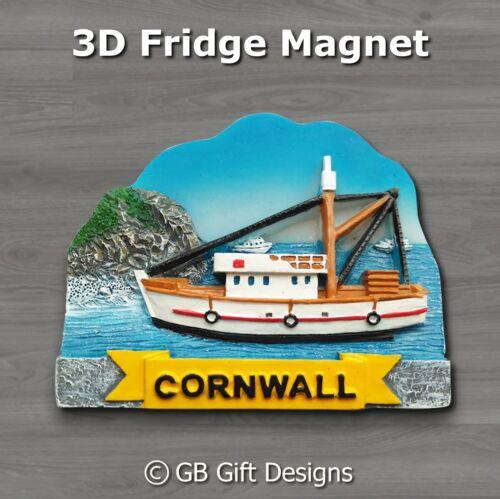 3D Cornish Fishing Boat Trawler Cornwall Fridge Magnet Gift Souvenir Xmas