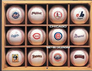0106a28cc Image is loading 1987-1988-CHICAGO-CUBS-ANNUAL-CALENDAR-w-Player-