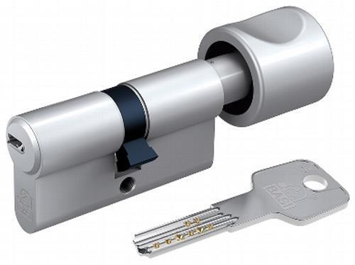 Basi BM Profilknaufzylinder K35/60mm gleichschließend 3 Bohrmuldenschlüssel GL40