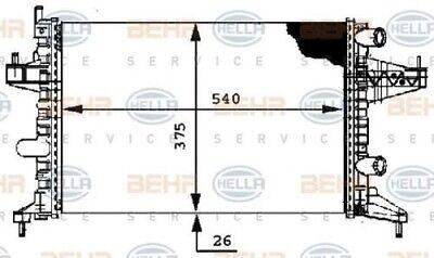 8mk 376 714-344 Hella Radiatore Raffreddamento Del Motore