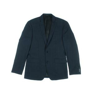 BAR-III-NEW-Navy-Wool-Textured-Two-Button-Suit-Jacket-Sportcoat-36S-MSRP-400