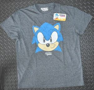 Sonic T Shirt Mens Sega Primark Gamer Grey Uk Sizes M Xxl Ebay