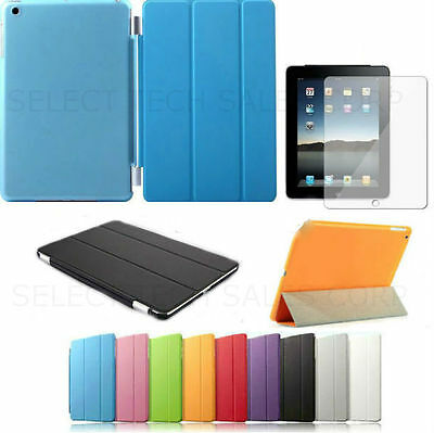Smart Magnetic Stand Leather Case Hard Back Cover For APPLE iPad 4//3//2 Air Mini