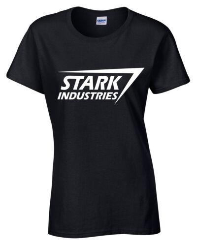 Stark Industries Camiseta Mujer Tony Marvel Arc Cómic Escudo Geek Blusa para