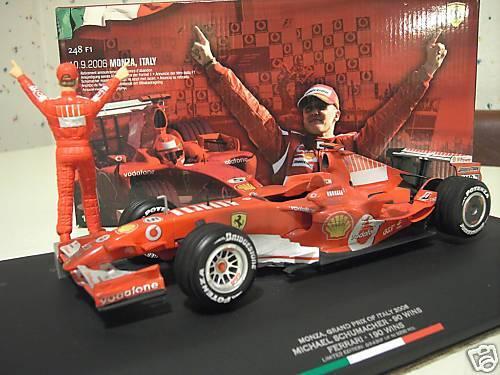 F1 FERRARI 2006 ITALY SCHUMACHER REELLE DECORATION 1 18 HOT WHEELS J2994 formule